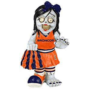 NFL Denver Broncos Cheerleader Team Zombie Figurine by Forever Collectibles