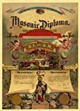 MASON VINTAGE 1800-1899 FREEMASONS MASONIC LODGE DIPLOMA Reproduction PRINT - from Hibiscus Express
