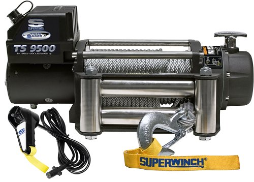 Why Choose The Superwinch 1595200 Tiger Shark 9.5, 12 VDC winch, 9,500 lb/4,309 kg capacity with rol...