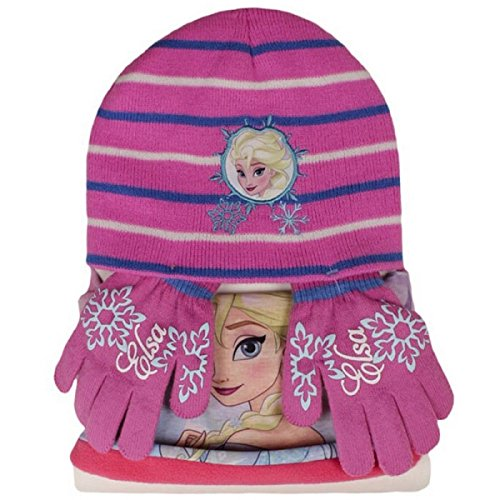 Disney Set Invernale Cappello, Scaldacollo e Guanti Frozen