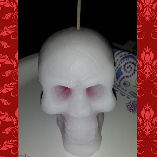 """""""Bleeding"""" Skull Candle- Halloween/Gothic Candle- Cider Web Scented (Apple Cider Scent)"""