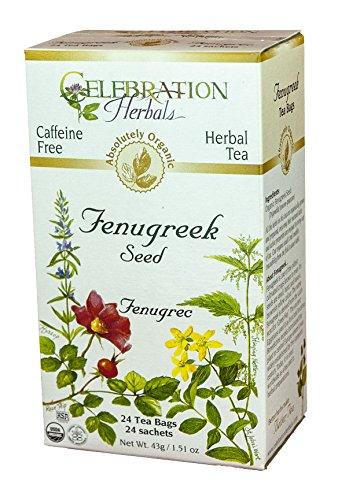 Celebration Herbals - Organic Caffeine Free Fenugreek Seed Herbal Tea - 24 Tea Bags