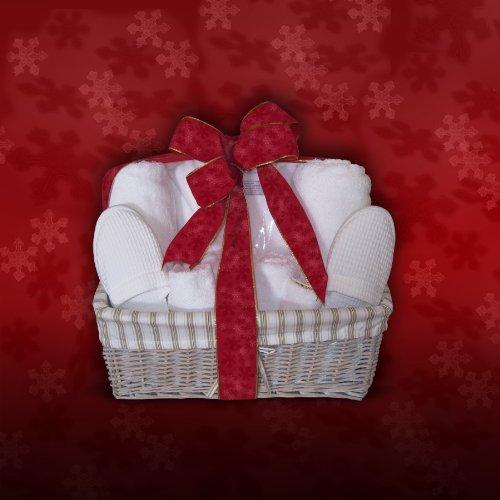 Turkishtowels Luxury Towel-Bathrobe-Slippers Gift Basket with Free Bathrobe Embroidery