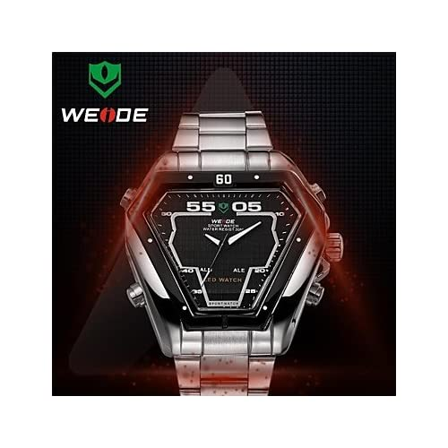WEIDE® Men's Round Full Steel Watch Band Janpan Mov't Analog Digital Alarm And Diver Wrist Watches(Assorted Colors...