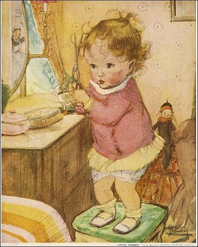 Photographic Print of Little Barber by Muriel Dawson from Mary Evans