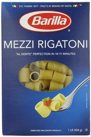 Amazon.com: Barilla Pasta, Mezzi Rigatoni, 16 Ounce: Prime