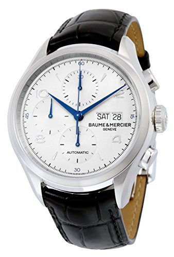 baume-et-mercier-clifton-automatic-chronograph-silver-dial-mens-watch-10123-by-baume-mercier
