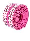 Moolecole 1X Rosa Roja Beb� Mesa De T� De Vidrio Mparagolpes Franja Guardia Protecciones Para Bordes y Esquinas Mcubierta De Cojines Escritorio Guardia De Seguridad Para Ni�os Protecci�n Paragolpes Franja 4m