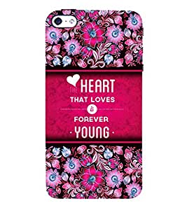 Love Is Young Forever 3D Hard Polycarbonate Designer Back Case Cover for Apple iPhone SE