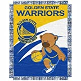 NBA Golden State Warriors Half Court Woven Jacquard Baby Throw Blanket, 36x46-Inch at Amazon.com