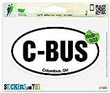 "C-BUS Columbus OH Oval Vinyl Car Bumper Window Sticker 5"" x 3"""