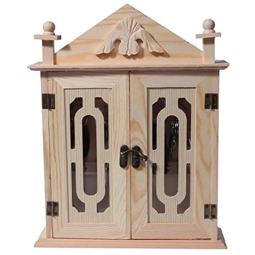 Juvale Key Organizer/Key Cabinet - Natural Wood Key Storage Cabinet - 11 Inches
