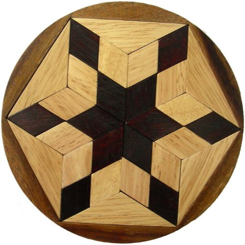 Cheap Winshare and Games Pento Star Wooden Puzzle Brain Teaser (B005K2WQWI)
