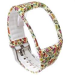 Moretek Watch Band for Samsung Galaxy Gear S Smartwatch Wristband Replacement bands(birds)
