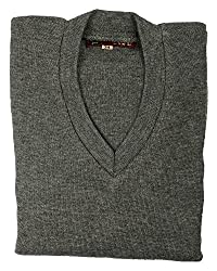 Ashish Oswal Girls' Wool Sweater(Ao16, Mixture Grey, 34)