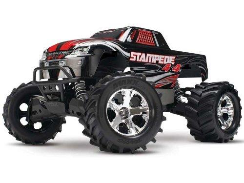 Traxxas Stampede 4 X 4 Rtr Xl-5 Esc Titan 12-T Motor Monster Truck, Red/Blue/Black/Silver
