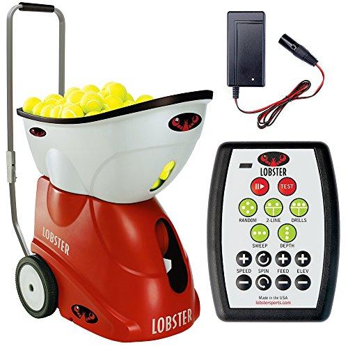 Lobster Sports Elite Grand Iv Portable Tennis Ball Machine (21x14x 20- Inch)