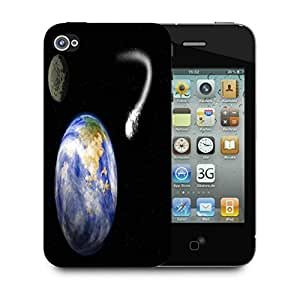 Snoogg Comet Heading For Earth Designer Protective Back Case Cover For Apple Iphone 4