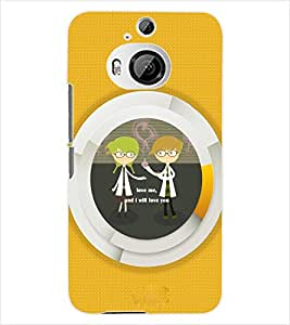 ColourCraft Quotes Back Case Cover for HTC ONE M9 PLUS