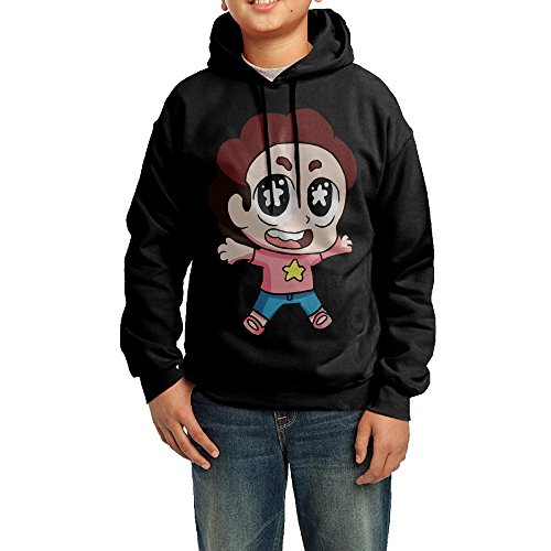 YHTY Youth Boys/Girls Hoodie Cute Cartoon Steven Black Size L (Get Free Gems O compare prices)