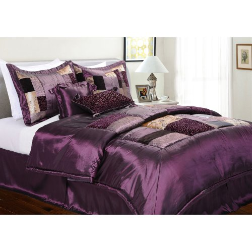Epoch Hometex, Inc Florence Queen Bed Set, Eggplant front-605210