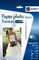 AVERY - 2739-25 - 25 feuilles de papier photo blanc brillant 270g/m². A4. Impression jet d'encre