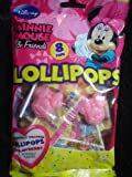 Disney's Minnie Mouse One Pack of 8 Strawberry Lollipops