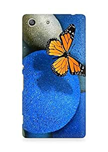 AMEZ Butterfly Pebbles Back Cover For Sony Xperia M5