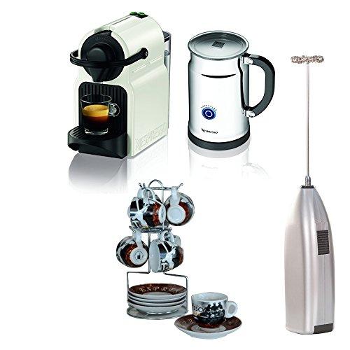 nespresso inissia espresso maker with aeroccino plus milk frother white h. Black Bedroom Furniture Sets. Home Design Ideas