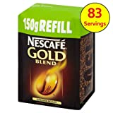 Nescafe Gold Blend Refill Freeze Dried Instant Coffee 150g case of 6