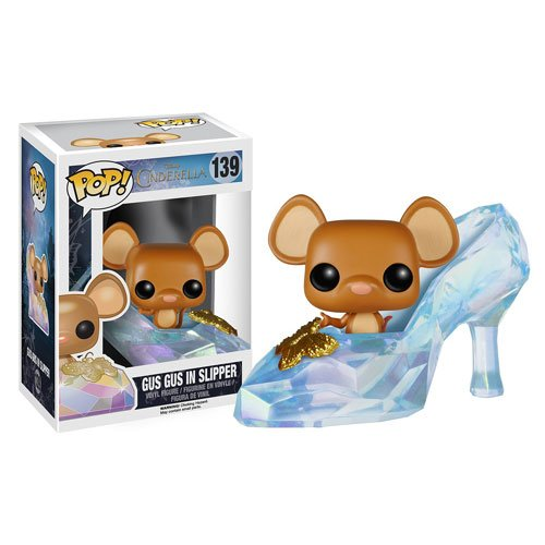1 X Disney Cinderella Live Action Movie Gus Gus in Slipper Pop! Vinyl Figure - 1