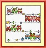 クロスステッチ 刺繍キット フクロウ