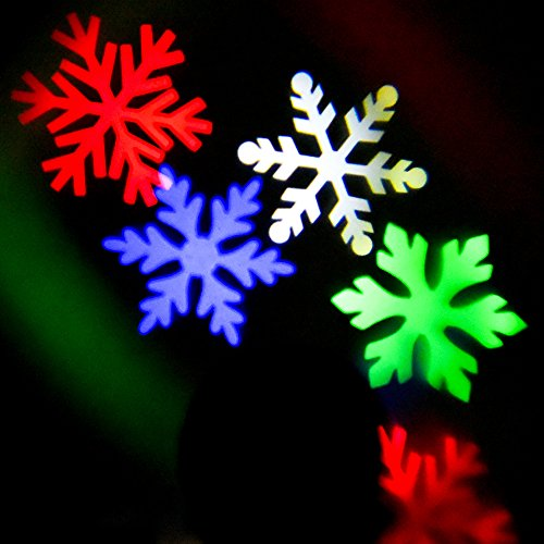CrazyFire-LED-Projection-LightWaterproof-Snowflakes-Projectable-LED-Night-LightRotating-Landscape-Spotlight-for-IndoorOutdoor-Christmas-Holiday-Home-Party-Decoration