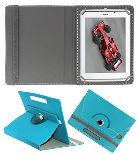 ACM ROTATING 360° LEATHER FLIP CASE FOR XOLO QC800 TABLET STAND COVER HOLDER GREENISH BLUE  available at amazon for Rs.159