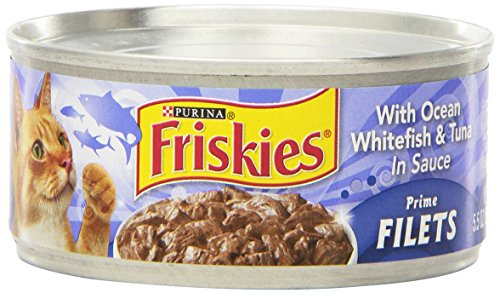 Friskies Prime Filets With Ocean Whitefish & Tuna In Sauce
