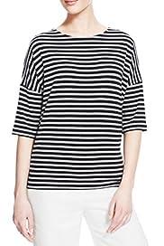 Striped Boxy T-Shirt [T50-2760-S]