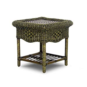 Cane And Rattan Conservatory Furniture Conservatory Furniture Dark Rattan Lamp Table Wicker Top Cane
