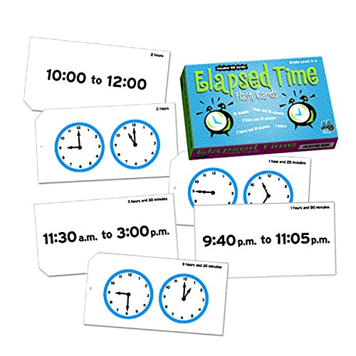Learning Advantage 8636 Elapsed Time Flash Cards - 1