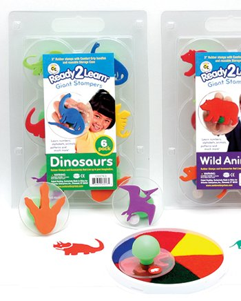 Ready2Learn Giant Dinosaurs Stampers -- Case of 3