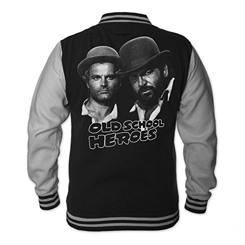 bud-spencer-herren-old-school-heroes-college-jacket-schwarz-l