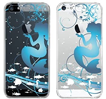 【iPhone5S】【iPhone5】【iPhone5Sケース】【iPhone5ケース】【ケース カバー】【au】【Soft Bank】【スマホケース】【クリアケース】【Clear Arts】【人魚姫】 08-ip5-ca0100c