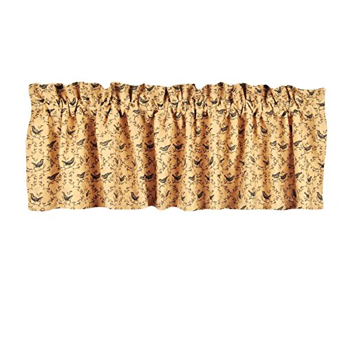 Home Collection by Raghu Bird Nutmeg Valance, 72 by 15.5""