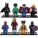 8 Piece SY SuperHero Character Buildi...