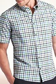Blue Harbour Pure Cotton Grid Check Oxford Shirt [T25-5749B-S]