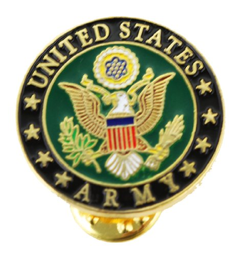 US Army Pin Round Lapel Pin Patriotic Military Logo Insignia Gifts for Veterans