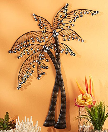 Palm-Trees-Tropical-Caribbean-Crystal-Beaded-Wall-Artwork-Plaque-Wall-Hanging-Home-Decor-Accent-Decor