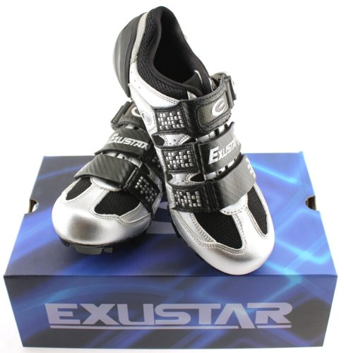 EXUSTAR E-SM322 Mountain Bike Shoes Carbon Sole Fiber Mesh Synthetic Leather