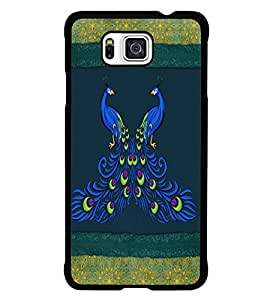 PrintDhaba Peacock D-4601 Back Case Cover for SAMSUNG GALAXY ALPHA (Multi-Coloured)