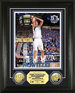 Dirk Nowitzki Framed Dallas Mavericks Gold Coin Photo Mint by Hall of Fame Memorabilia