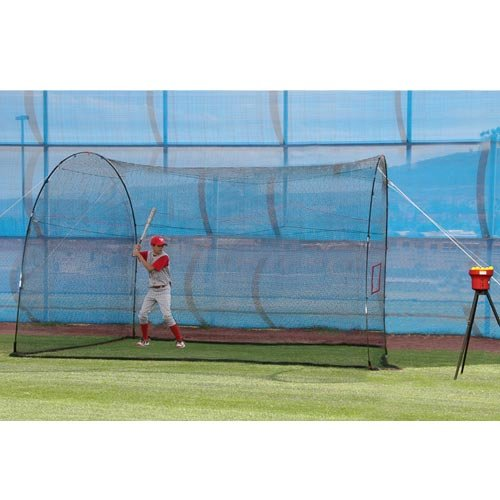 Heater Sports 12 ft. Crusher Pitching Machine & HomeRun Batting Cage Package (Batting Cage Package compare prices)